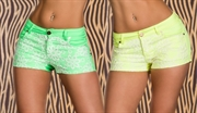 Neon blomster hotpants (XL)