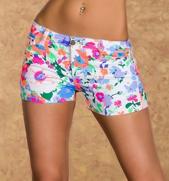 Sommer hotpants m. Orange (M,L,XL)