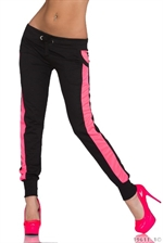 Sort pink jogging bukser