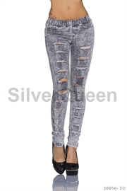 Grå jeans leggings