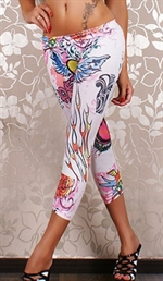 Hjerte peace leggings