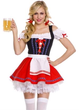 2dbcecfb7783 Barpige tyroler kostume til voksne kvinder
