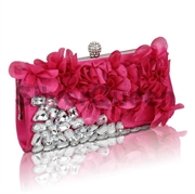 Rosa clutch med pynt
