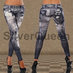 Smarte leggings i jeans look