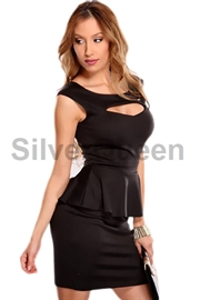 Sort stilet peplum kjole