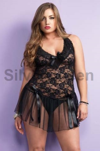 Stilfuld sort blonde babydoll