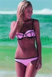 pink push-up bikini