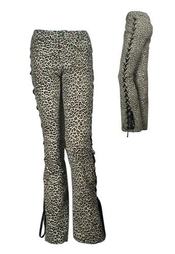 Smarte leopard bukser (36,40)